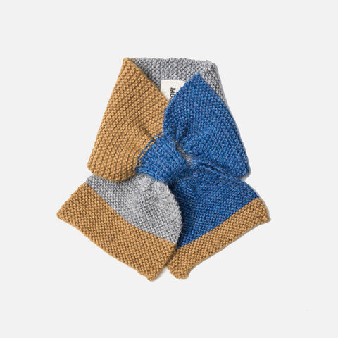 Alpaca Colourblock Scarf - Sky Blue - 6m-3y