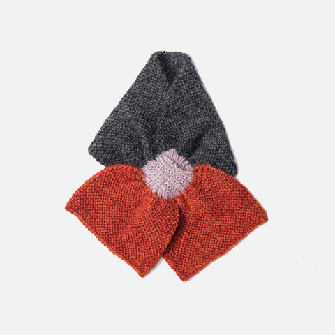 Alpaca Colourblock Scarf - Terracotta - 6m-3y