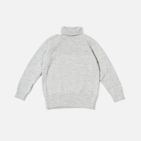 Alpaca/Merino Sailor Sweater - Grey - 6m-12y