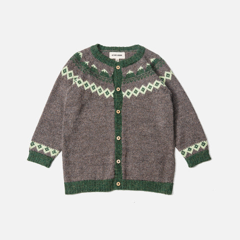 Alpaca Mountain Cardigan - Wood - 6m-8y