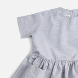 Pima Cotton SS Pocket Dress - Pinstripe - 6m-12y