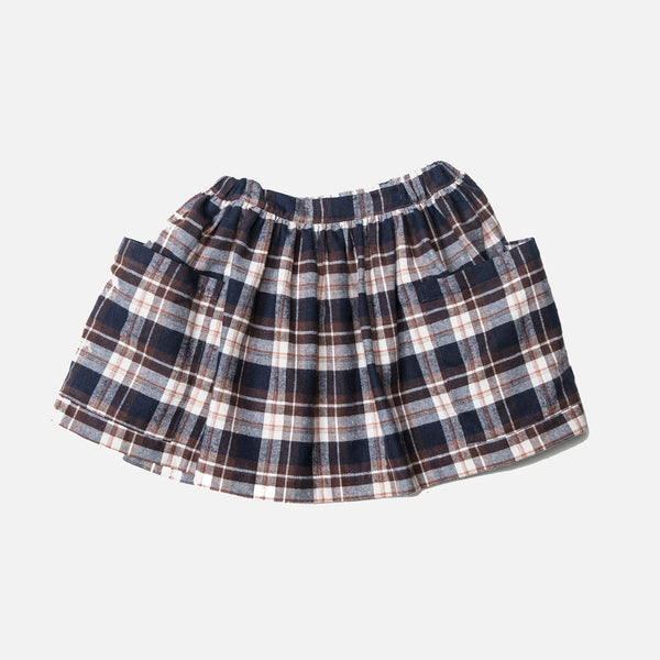 Cotton Pocket Skirt - Checked - 6m-8y