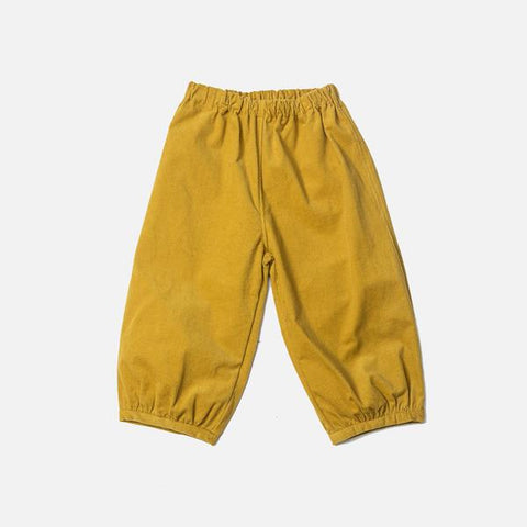 Exclusive Cotton Bubble Pants - Mustard Cord