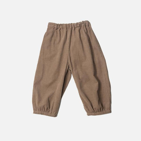 Exclusive Cotton Bubble Pants - Toffee Cord