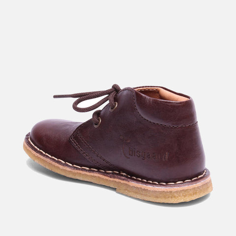 Vegetable Tanned Leather Shoe with Laces - Brown - 22 (UK 5) - 35 (UK 2.5)