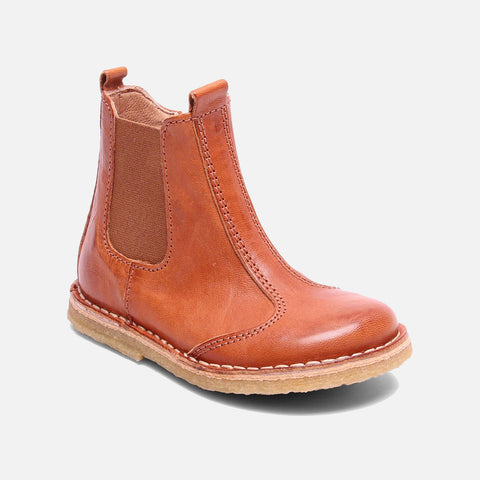 Vegetable Tanned Leather Chelsea Boot - Cognac - 24 (UK 7) - 37 (UK 4.5)