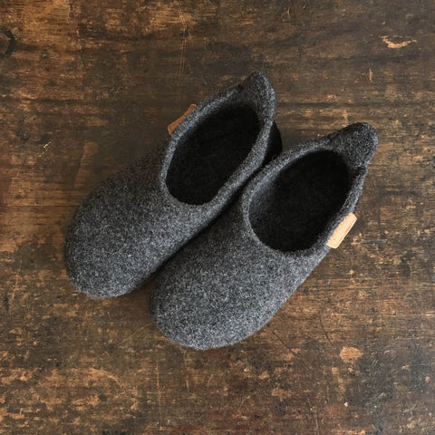 a42bc2eee1e7 Sold out Wool Slipper Shoe - Anthracite - Size 28-36 (UK 7-3.5) ...