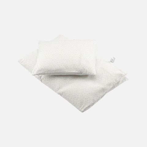 Cotton Toronto Pigeon Duvet & Pillow Cover - White - Junior