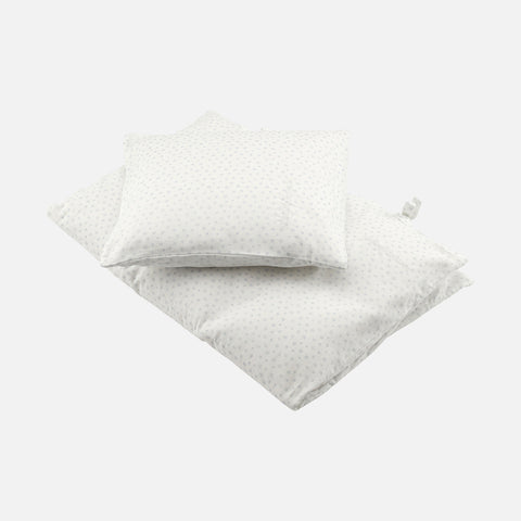 Cotton Toronto Pigeon Duvet & Pillow Cover - White - Adult