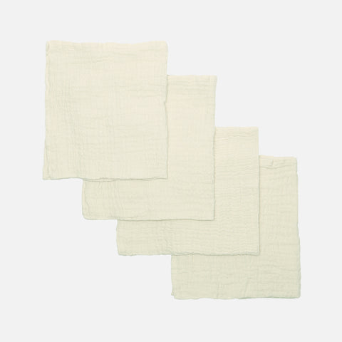 Organic Cotton Muslins - Raw - 4 Pack