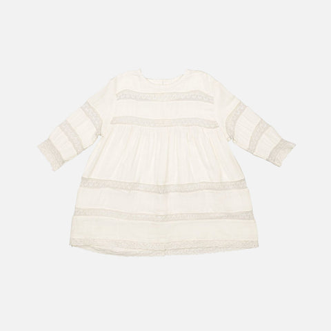 Organic Cotton Olga Dress - Natural - 6m-6y
