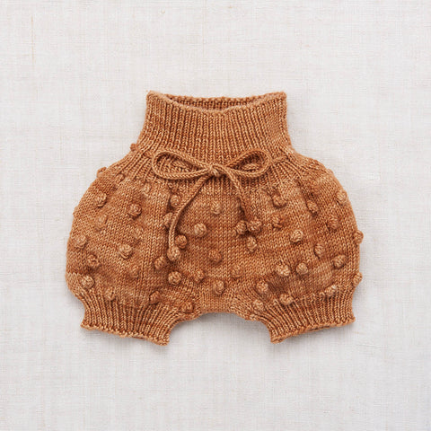 Hand Knit Merino Wool Popcorn Bloomers - Rose Gold - 6m-5y