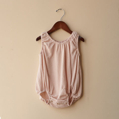 Cotton Bubble Baby Romper - Cotton Candy - 0-24m