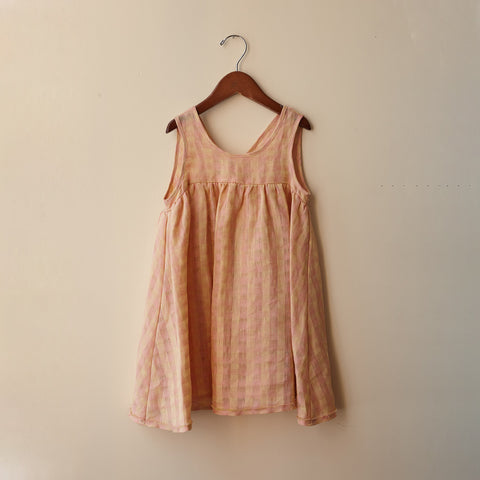 Cotton Frankie Dress - Peach - 2-10y