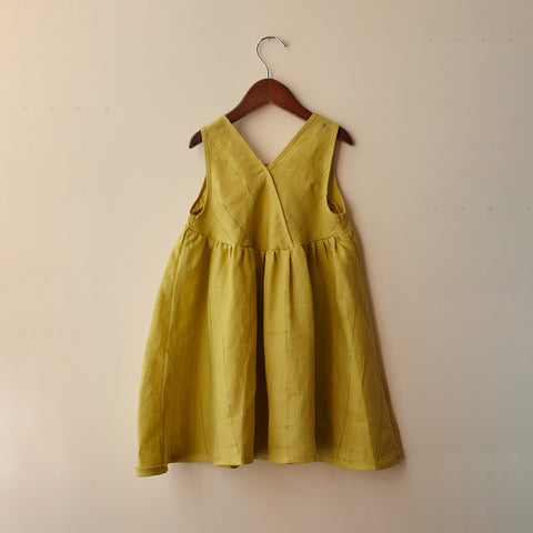 Cotton Frankie Dress - Mustard - 2-10y