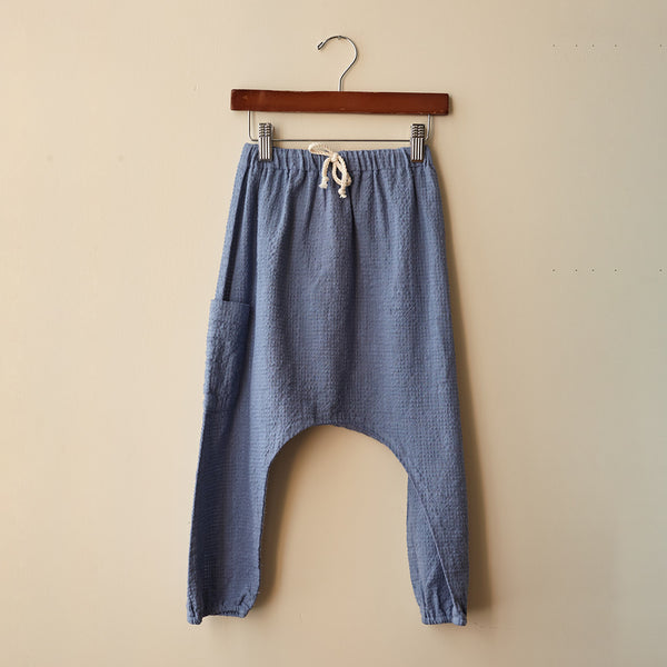 Cotton Liv Harem Pants - Slate - 2-8y