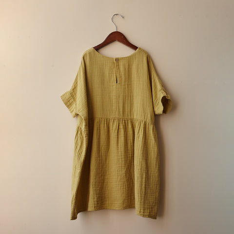 Cotton Una Dress - Mustard - 2y