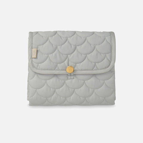 Organic Quilted Changing Mat - Grey