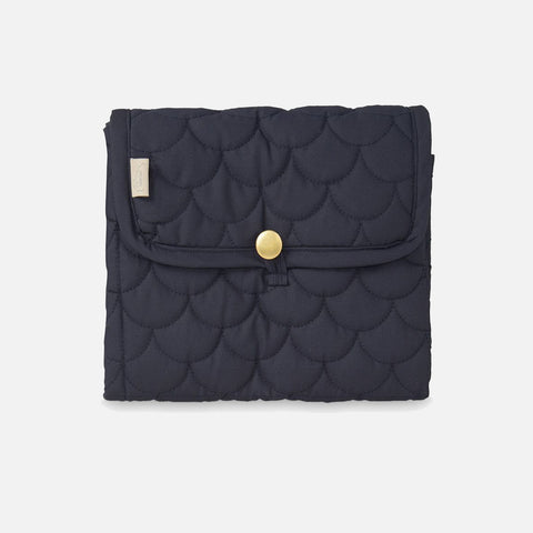 Organic Quilted Changing Mat - Navy