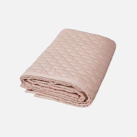 Organic Cotton Wave Baby Quilt - Dusty Rose