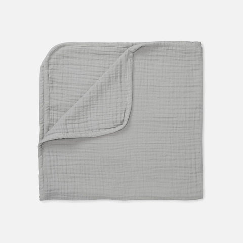 Organic Cotton Muslin Blanket - Grey