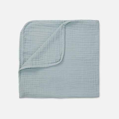 Organic Cotton Muslin Blanket - Petroleum