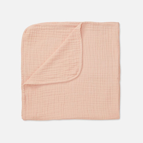 Organic Cotton Muslin Blanket - Blush