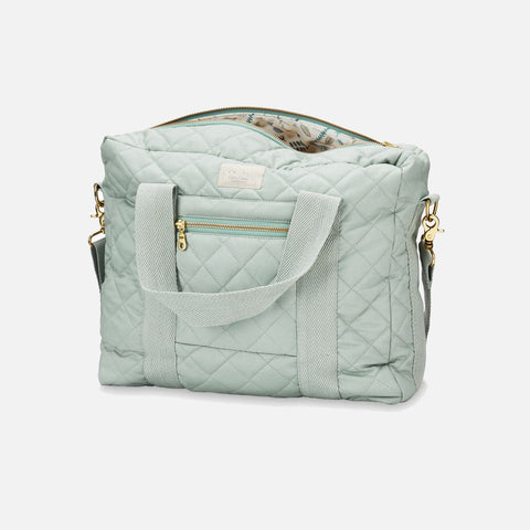 Organic Cotton Coated Changing Bag - Misty Green