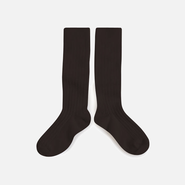 Babies & Kids Cotton Knee Socks - Coffee Bean - 1-12y