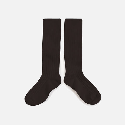 Babies & Kids Cotton Knee Socks - Coffee Bean