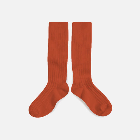 Babies & Kids Cotton Knee Socks - Candied Orange - 1-12y