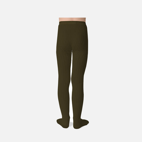 Babies & Kids Rib Tights - Cactus Green