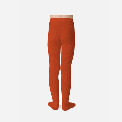 Babies & Kids Rib Tights - Candied Orange - 0m-10y