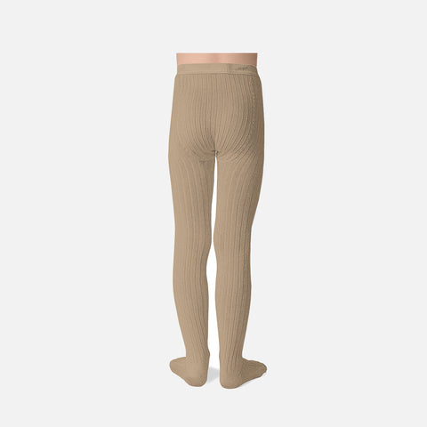 Babies & Kids Rib Tights - Taupe - 0m-10y