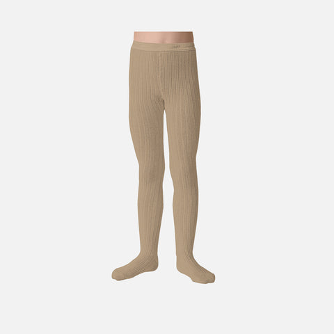 Babies & Kids Rib Tights - Taupe