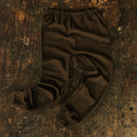 Merino Wool/Silk Pants - Brown - 18m-8y