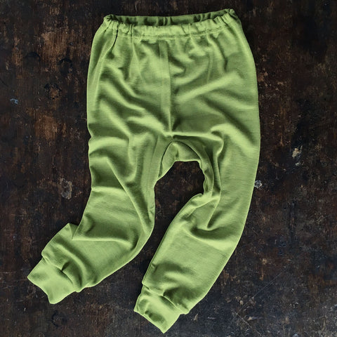 Merino Wool/Silk Pants - Olive - 18m-8y