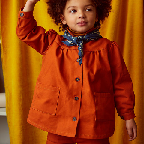 Cotton Artist Smock - Pumpkin - 2-8y