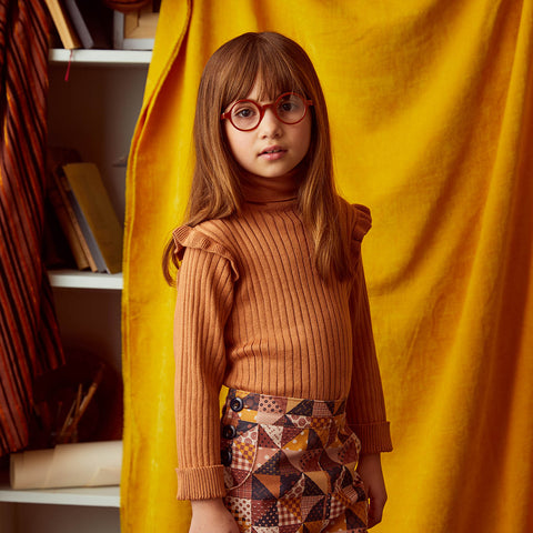 Cotton Ida Turtleneck - Rose Gold - 2-8y