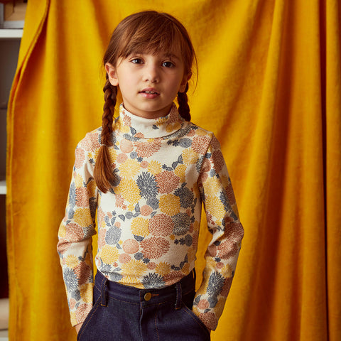 Cotton Turtleneck - Chrysanthemum - 2-8y