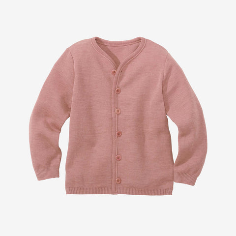Organic Merino Wool Cardigan - Rose