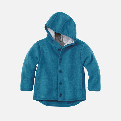 1886039ee23 Sold out Organic Boiled Merino Jacket - Teal Blue - 6m-5y ...