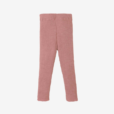 Organic Merino Leggings/Trousers - Rose
