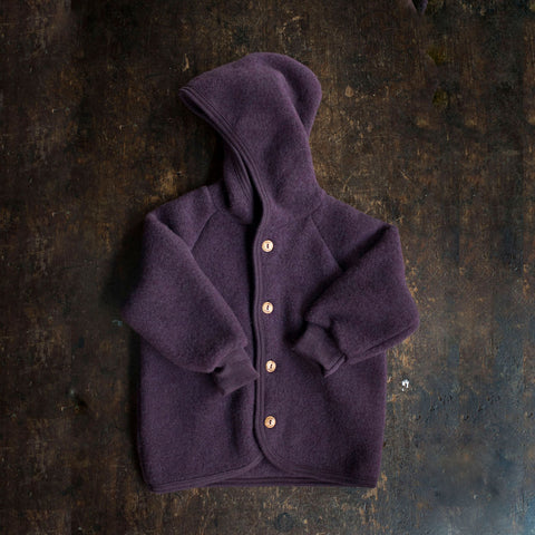 Organic Merino Wool Supersoft Fleece Jacket - Lilac Melange