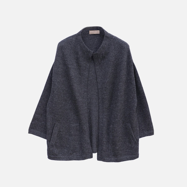 Women's Alpaca Iona Cardigan - Charcoal - EU36 (UK10) - EU42 (UK16)