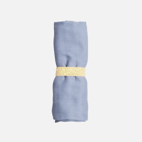 Organic Cotton Muslin - Marina Blue