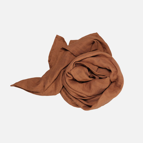 Organic Cotton Swaddle - Cinnamon