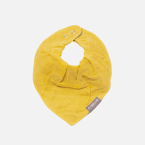 Organic Cotton Muslin/Terry Bandana Bib - Honey