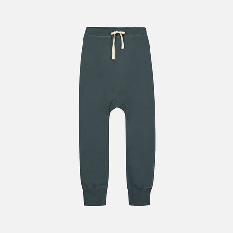 Organic Seamless Baggy Pants - Blue Grey - 1-10y