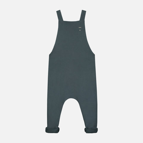 Organic Cotton Salopette - Blue Grey - 1-8y
